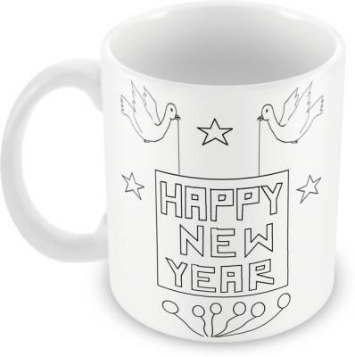 AKUP happy-new-year-birds Ceramic Mug