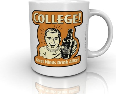 Bcreative College Great Minds Drink Alike (Officially Licensed) Ceramic Mug