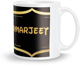 posterchacha Amarjeet Name Tea And Coffee For Gift And Self Use Ceramic Mug(350 ml)
