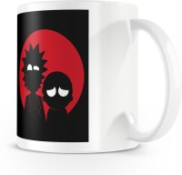 Posterchacha Black And Red Epic Rick And Morty Fan Made Artwork White Bone China Coffee Ceramic Mug(330 ml) best price on Flipkart @ Rs. 299