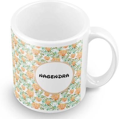 posterchacha Nagendra Floral Design Name  Ceramic Mug