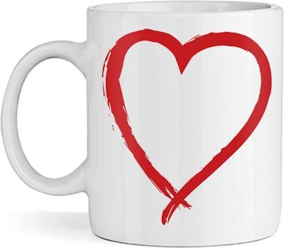 SBBT Red Heart Shape Ceramic Mug