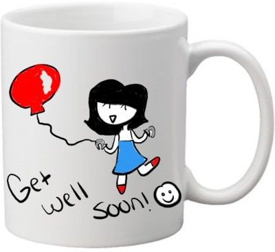 Awwsme Get Well Soon Girl Ceramic Mug