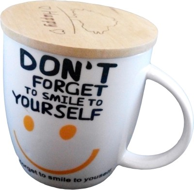 GeekGoodies White Large Smile Ceramic Mug