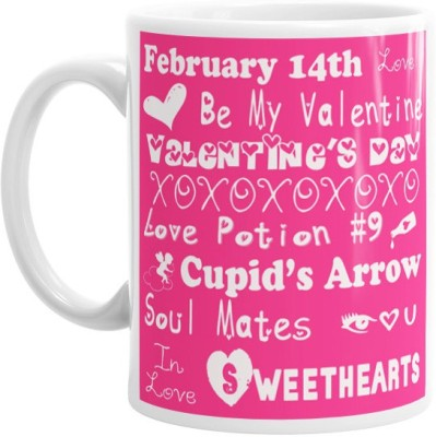 Hainaworld Feb 14 Valentines Day Coffee  Ceramic Mug