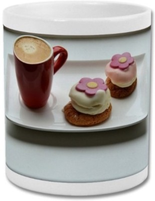 ShopTwiz Coffee with Cupcakes Ceramic Mug