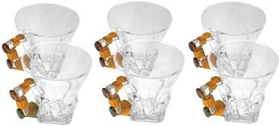 JewelKraft Designs Crystal Zch Tile Oval Glass Mug
