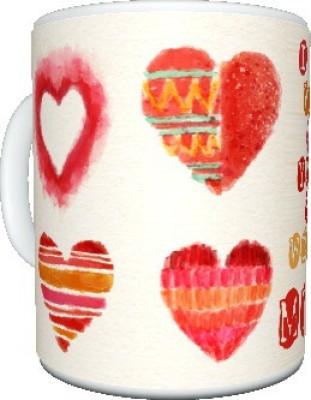 CreativesKart Valentine Paint ur Heart MUG Ceramic Mug