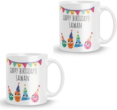 posterchacha Sawan Personalised Custom Name Happy Birthday Gift Tea And Coffee  For Gift Use Ceramic Mug