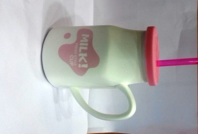 Its Our Studio Milk  With Lid & Straw Ceramic Mug