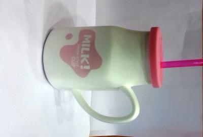 Its Our Studio Milk  With Lid & Straw Ceramic Mug
