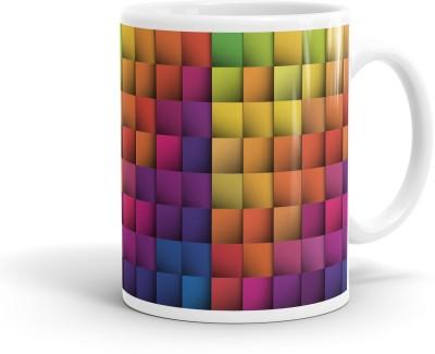Heartzy Beautiful Multicolor Tiles Pattern  Ceramic Mug