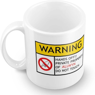 posterchacha Allwyn Do Not Touch Warning Ceramic Mug