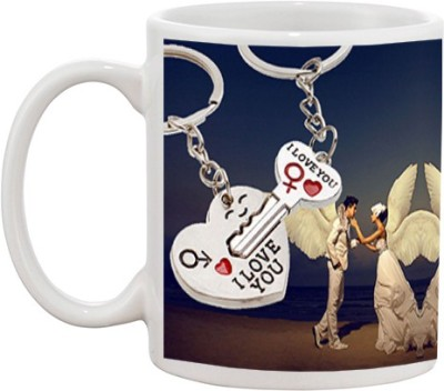 Tia creation I Love You with Mirror Ceramic Mug