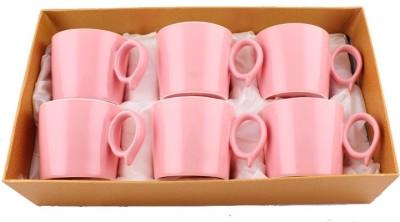 White Gold 33206 - Pink Porcelain Mug