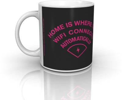 Bcreative Home Where Wifi Connects Automatically (Officially Licensed) Ceramic Mug