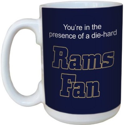 Tree-Free Greetings Greetings lm44136 Rams Football Fan Ceramic  with Full-Sized Handle, 15-Ounce Ceramic Mug