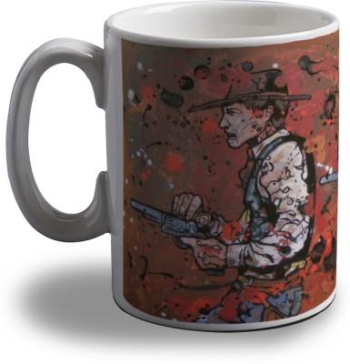 Artifa Cowboy Shooting Artistic Porcelain, Ceramic Mug