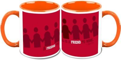 HomeSoGood Less Friends Better Life (2 s) Ceramic Mug