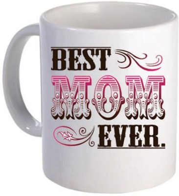 Giftsmate Floral Best Mom Ever Ceramic Mug