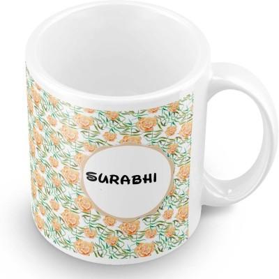 posterchacha Surabhi Floral Design Name  Ceramic Mug