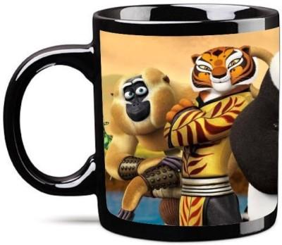 Big Idea Kung Fu Panda Black Ceramic Mug