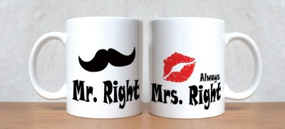 StyBuzz Mr. Right And Mrs. Always Right Couple Porcelain Mug