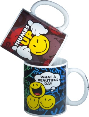 Gift-Tech Twin  With Beautiful Smile Quotes Ceramic Mug