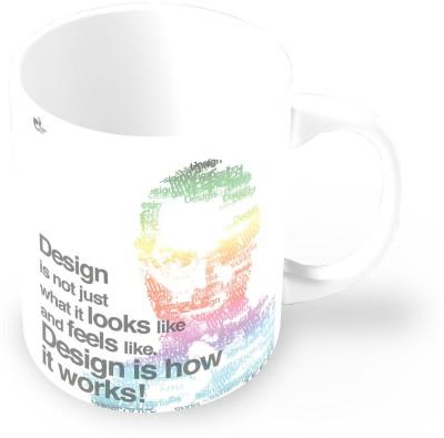 Thinkpot Design Is Not Just What It Looks Like And Feels Like. Design Is How It Works - Steve Jobs, Apple Ceramic Mug