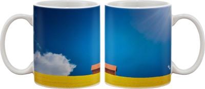 Artifa House In Fields Porcelain, Ceramic Mug