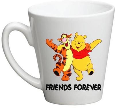 Huppme Friend Forever Conical  Ceramic Mug