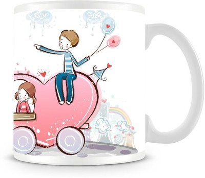 Shoprock Couples Love on the Bus Coffee Muf Ceramic Mug