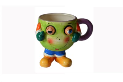 MGPLifestyle Blinking Eyes Ceramic  (Glass Finish) in Green Colors Ceramic Mug