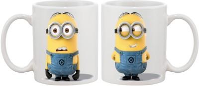 Artmagik Confused Happy Minions Ceramic Mug