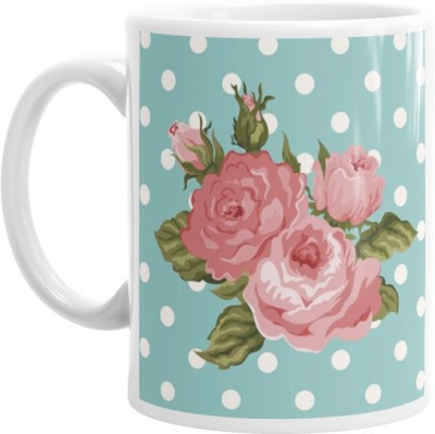 Hainaworld Animated Roses Coffee  Ceramic Mug