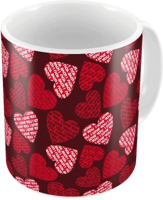 Indiangiftemporium Designer Romantic Printed Coffee  727 Ceramic Mug