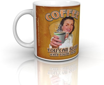 Bcreative Coffee You Can Sleep When You,re Dead (Officially Licensed) Ceramic Mug