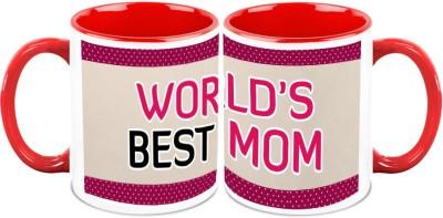 HomeSoGood Mom Is Wow ( Set of 2) Ceramic Mug