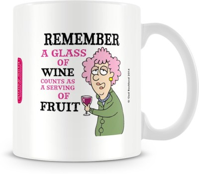 Aunty Acid Glass of wine Ceramic Mug