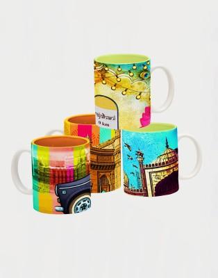 Indie Tadka Dilli & Mumbai Indie Tadka Glass Mug