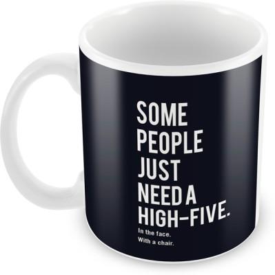 AKUP Some People Just Need Hi-Fi Ceramic Mug