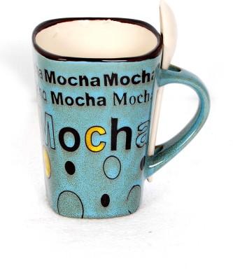 DRL Coffee - Mocha Blue Porcelain Mug