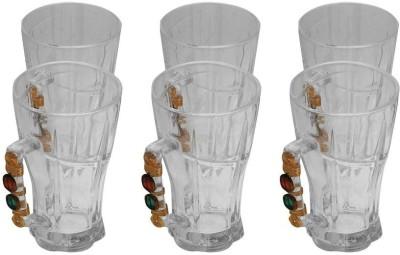JewelKraft Designs Large Green Tea Glass Mug