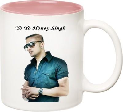 Huppme Yo Yo Honey Singh Inner Pink  Ceramic Mug