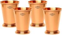 "Indian Craft Villa Indian Craft Villa Handmade Set Of 4 Mint Julep Cup - 100% Solid Pure Copper 400 ML- 13oz Beaded 4.5"" Tall - Traveller"