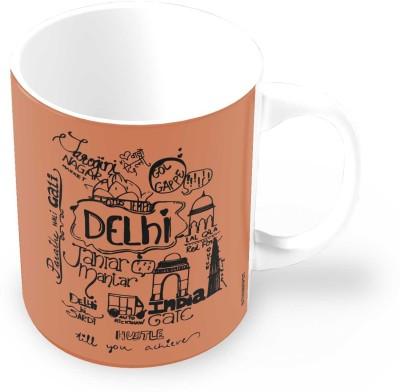 Thinkpot Dilwalo Ki Delhi Doodle Motivational Ceramic Mug