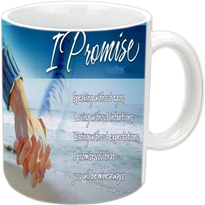 Jiya Creation1 Promise Friendship quote White Ceramic Mug