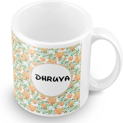 posterchacha Dhruva Floral Design Name  Ceramic Mug