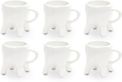 ThinNFat Tooth  Pack Of 6 s (233Ml) Ceramic Mug