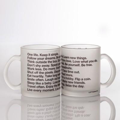 LetterNote Manifesto Frosted Combo Glass Mug